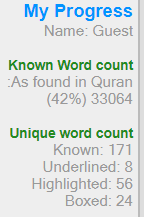 Learn Arabic online, Quran word for word translation