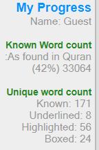 Learn Arabic online, Quran word for word translation
